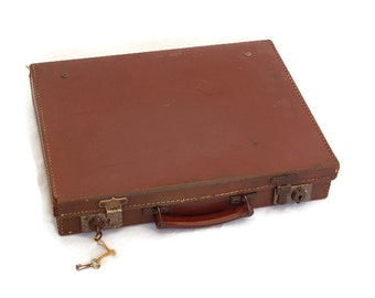 Vintage Leather Briefcase/Travelcase
