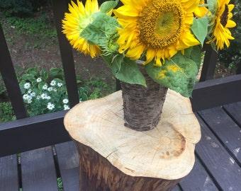 Handmade Reclaimed Wood Stump Table