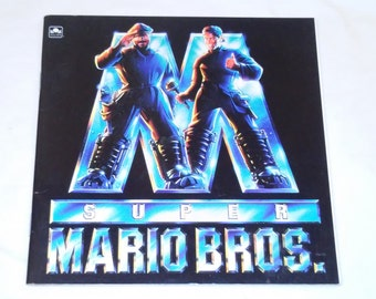 """Vintage Kids Paperback, """"Super Mario Bros."""" Adapted From the Film by Justine Korman, 1993."""