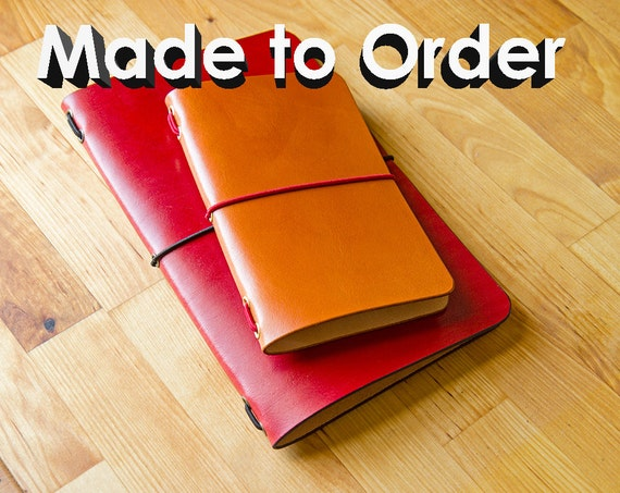 Leather Moleskine Cahier/Field Notes Notebook Cover, Made to Order