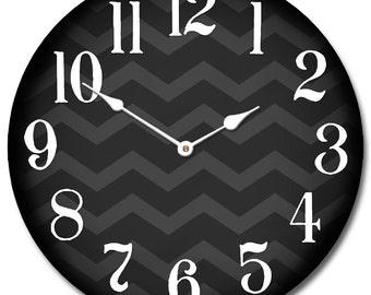 Chevron Black Clock