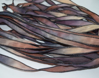 Aina - 42 Inch Hand Dyed Silk Ribbon by FancifulWishJewelry