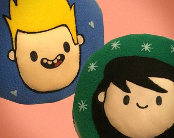 Bravest Warriors Chris and Beth pillow glow in the dark