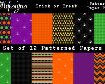 Trick or Treat Patterned Paper Pack