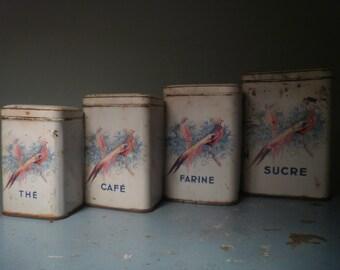 French Storage Tins