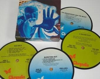 JETHRO TULL Coasters vinyl record coasters for drinks