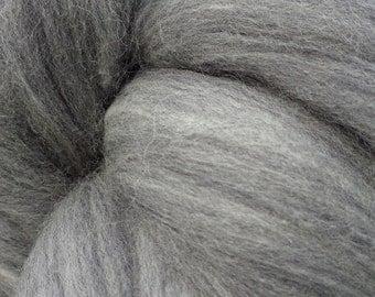Gray 100% Australian Merino Wool Top Roving Fiber Spinning, Felting Crafts  -SALE! 1oz, 2oz, 3oz, 4oz, 5oz, 6oz, 7oz, 8 oz and up