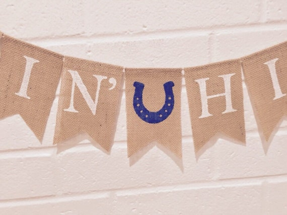 gettin hitched burlap banner custom banner engagement