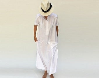 White Maxi Dress, Kaftan Dress, Plus Size Wedding Dress, Kaftan Dress, Mother of the Bride, Wedding Dress Alternative, Caftan Dress, Boho