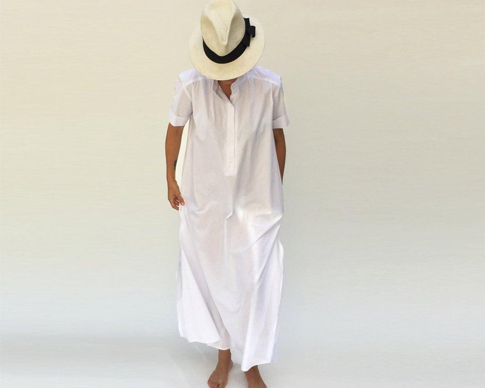 White maxi dress kaftan dress plus size wedding dress for White kaftan wedding dress