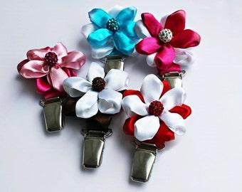 Number holder for dog show in shape of flower/ Pin number holder/ hand made show number holder/ pin number holder