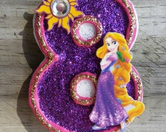 Rapunzel Birthday Candle, Tangled Birthday Candle