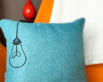 Adorable Light Bulb Pillow Case