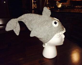 Crochet shark hat - made to order