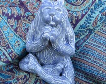 Blue Stone Texture Kat Kharma Yoga Sculpture