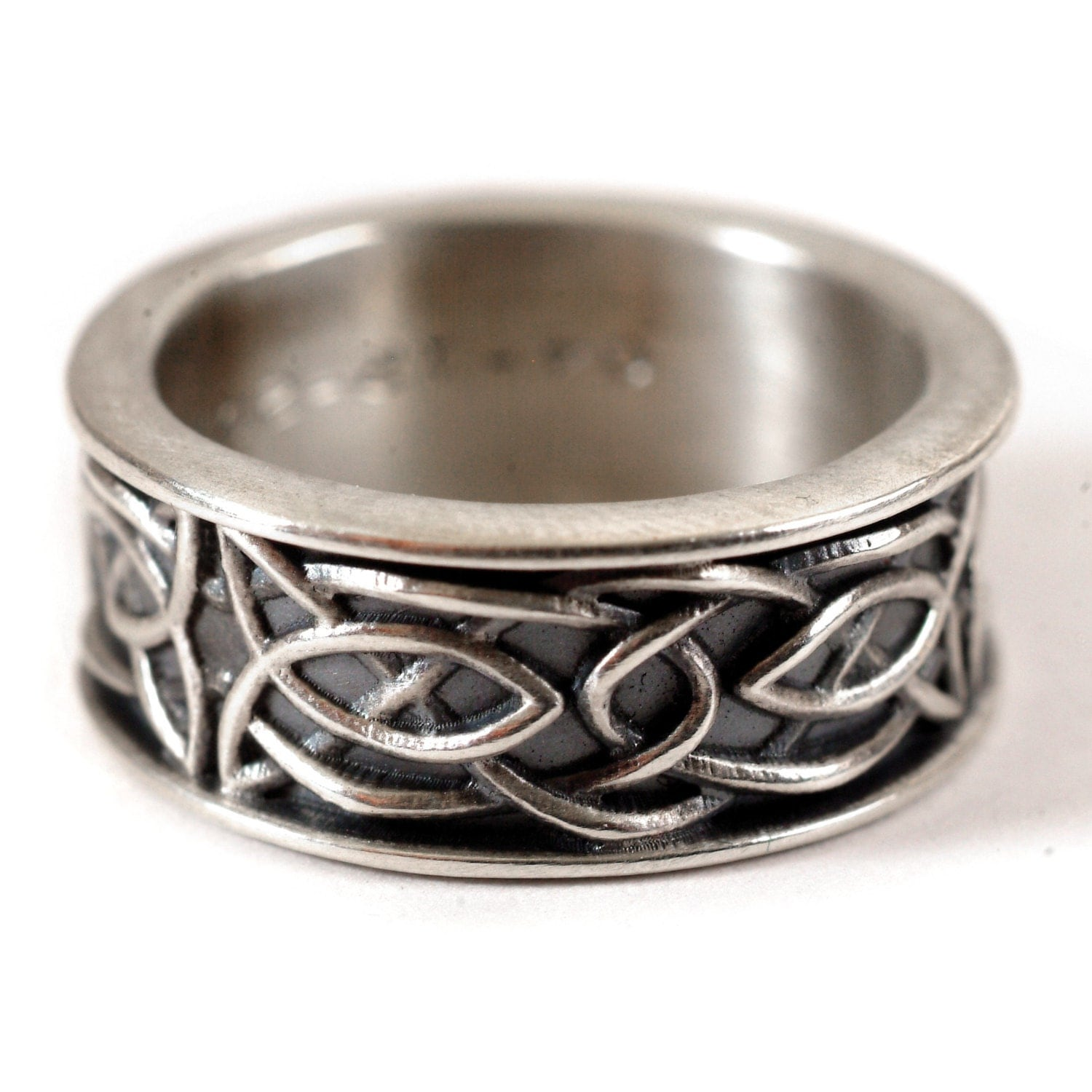 celtic wedding ring recycled silver ring 925 sterling silver