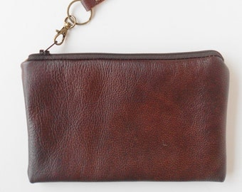 Leather phone case, leather clutch.