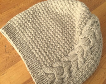 Slouchy Cabled Hat - MADE TO ORDER