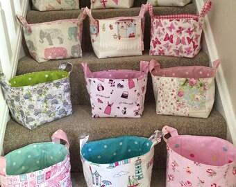 Small fabric  baskets