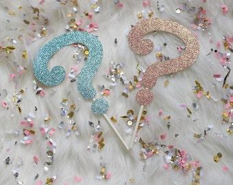 Gender Reveal Glitter Cake Topper : Baby Shower/Gender Reveal