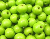 Dollhouse Miniature Food Lot 10 Green Apple Fruit Supply For Charms Supply Art Deco - 6875