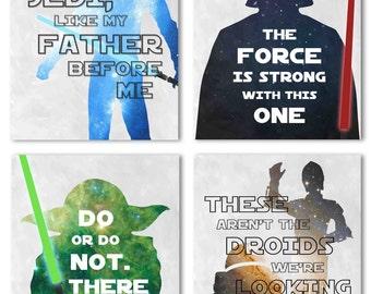 Star Wars Set of Four, Digital Art Printables