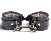Bdsm PVC Restraints Bondage Vegan Cuffs Faux Chinchilla Fur Lined