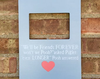 Custom Quote Picture Frame, Winnie the Pooh Nursery, Baby Shower Gift, Winnie the Pooh Quote, Baby Boy Gift, Baby Girl Gift, Gender Neutral