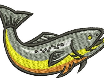 trout \ Fisherman \ two sizes embroidery design