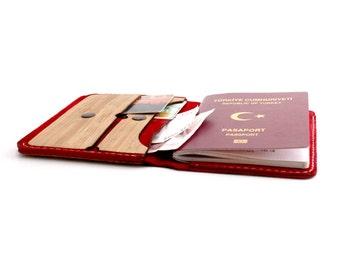 WOL Scarlet Travel Wallet / Passport Case