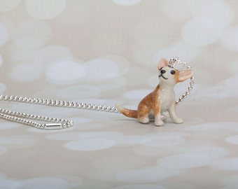Chihuahua Dog Necklace - Chihuahua Pendant - Dog Jewelry - Dog Necklace -Chihuahua- Frenchtutu Handmade Necklace-Handmade Chihuahua Necklace