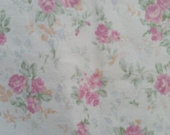 Soft Pink Floral Fat Quarter -  From Ralph Lauren Sheet