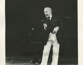 Victor Borge comedian on stage vintage photo