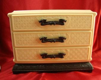 Vintage Asian Plastic Jewelry Box