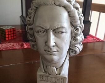 Johann Sebastian Bach Vintage plaster Figure Bust plaster