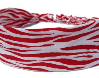 Red Zebra Headband by Sheylily