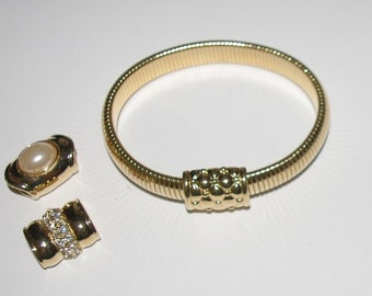 Joan Rivers Bangle Bracelet with Changeable Center - S1906