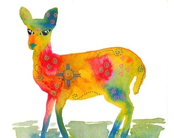 Note Cards, Notecards, Blank Cards, Spirit Animal, Deer, Woodland Animals, Woodland Creatures, Doe, Deer Art Print, Deer Art, Deer Artwork,