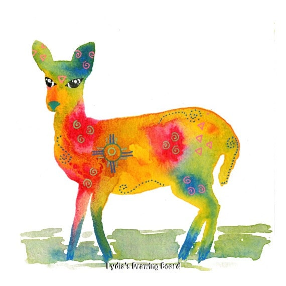 Note Cards, Notecards, Blank Cards, Spirit Animal, Deer, Woodland Animals, Woodland Creatures, Doe, Deer Art Print, Deer Art, Deer Artwork,