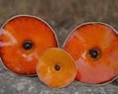 Garden & Yard Decor, Orange Flowers, Orange Sunset Ceramic Flower, Orange bouquet, Orange Sunset flowers for weddings