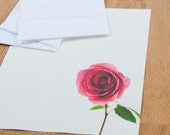 Rose Letter Writing Set, Romantic Valentines Letter Stationery, Stationary Gift for Her