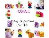 Crochet Amigurumi Pattern PDF Deal - SET of 3