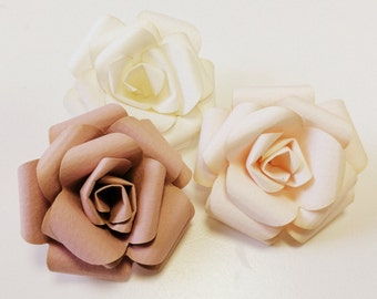 Handmade Paper Roses ~ As feautured in The White Company window displays