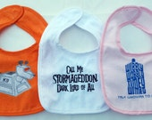 Embroidered Doctor Who Bib