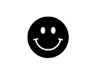 Smiley Face Vinyl Decal Sticker