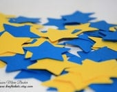 Star Theme Confetti, Yellow and Blue, Birthday Baby Shower Party Decor - 80 Pieces MADE TO ORDER