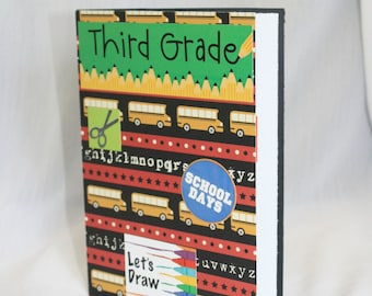 Third Grade Card, Back to School Card, First Day of School Card, Glitter Card