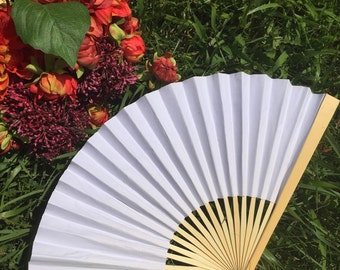 White Paper Fans For Wedding 9 Hand Outdoor