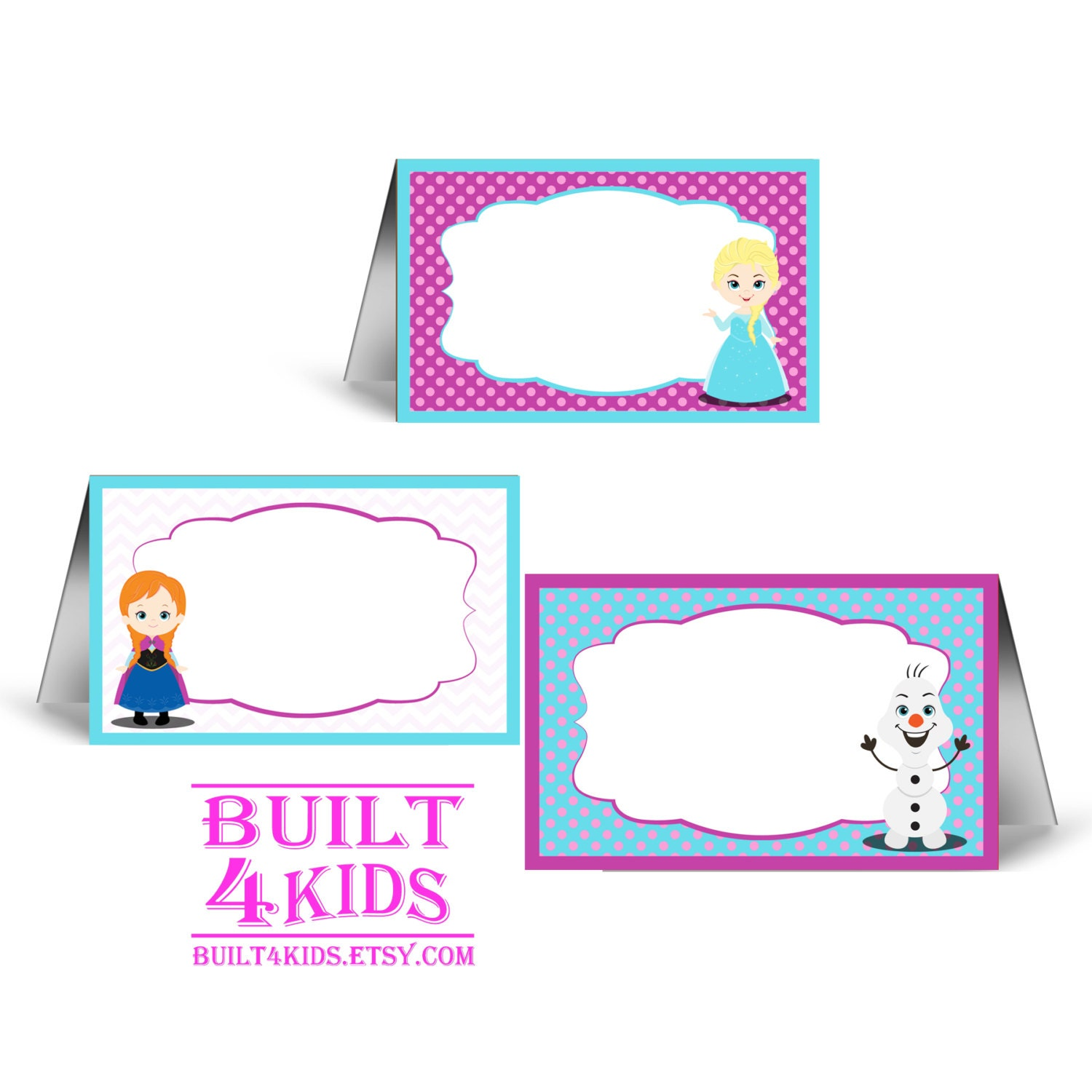 frozen food tent cards instant download baby shower