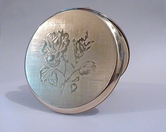 """Vintage compact mirrors Stratton """" Mini-Convertible """" powder compact, Stratton compact mirror vintage birthday gift bridesmaids gift compact"""
